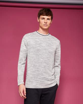 INZONE Rib detail linen-blend sweater