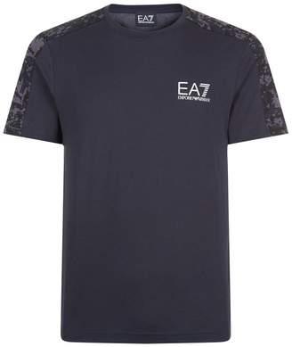 Giorgio Armani Ea7 Camo Shoulder Logo T-Shirt