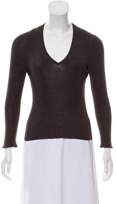 Gucci V-Neck Long Sleeve Top