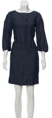 Max Mara 'S Long Sleeve Mini Dress
