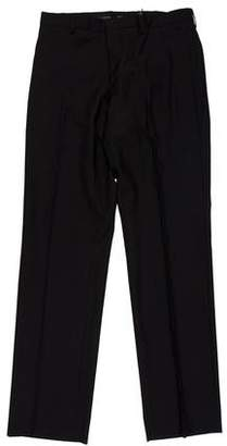 Burberry Virgin Wool Flat Front Pants