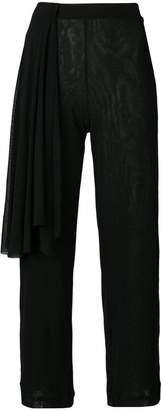 Fuzzi draped-detail cropped trousers