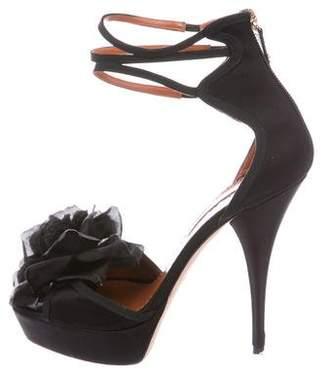 Oscar de la Renta Floral Platform Sandals