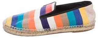 Celine Stripe Canvas Espadrilles