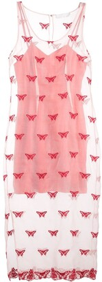 Fleur Du Mal embroidered sleeveless dress