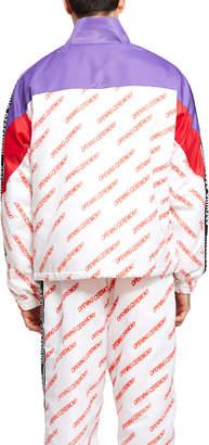 Opening Ceremony Printed Nylon Warm Up Jacket