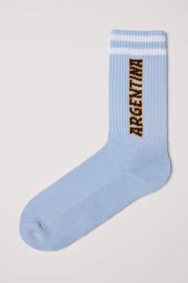 H&M Fine-knit Socks - Blue