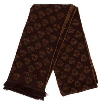Versace Knit Fringe Scarf