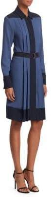 Piazza Sempione Women's Colorblock Shirtdress - Bluette - Size 50 (14)