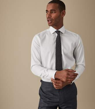 Reiss ORDER BY MIDNIGHT DEC 15TH FOR CHRISTMAS DELIVERY REMOTE REG REGULAR FIT SINGLE CUFF SHIRT White