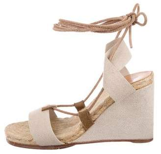 Hermes Wrap-Around Wedge Sandals