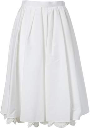 Prada Scalloped Hem Skirt