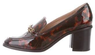 Tory Burch Patent Leather Square-Toe Pumps