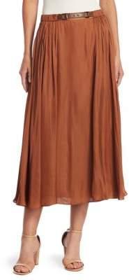 Halston Elastic Waist Maxi Skirt