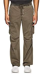 James Perse MEN'S COTTON CARGO PANTS-MD. GREEN SIZE 2