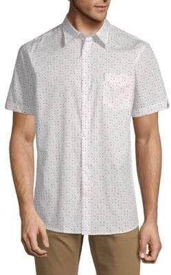 Ben Sherman Geometric-Print Cotton Shirt