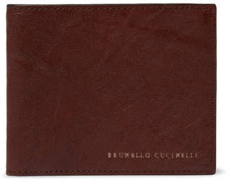 Brunello Cucinelli Creased-Leather Billfold Wallet - Men - Brown
