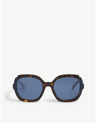 Prada Womens Brown Havana Print Pr16Us Square Sunglasses 8c9bfee82d