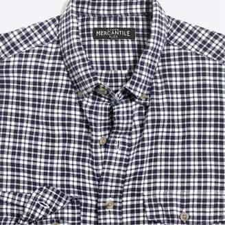 J.Crew Factory Slim-fit heather flex shirt in brushed twill plaid