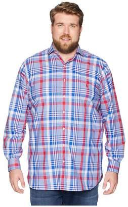 Polo Ralph Lauren Big Tall Poplin Button Down Spread Estate Collar Pony Player Long Sleeve Sport Shirt Men's Clothing