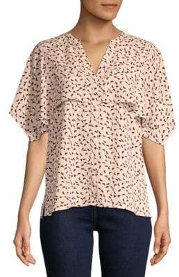 Vince Camuto Multi-Dots Cape Over Top