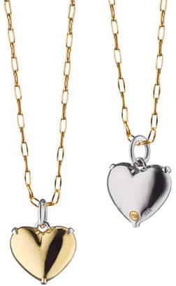 Monica Rich Kosann Two-Tone Heart of Gold Charm Necklace