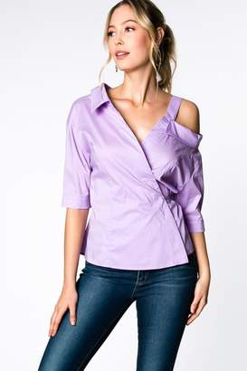 Everly Lilac Wrap Top