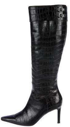 Lauren Ralph Lauren Embossed Knee Boots