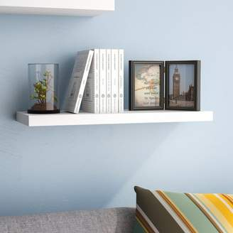 Ebern Designs Board Line Floating Wall Shelf
