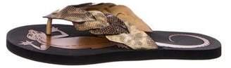 Bottega Veneta Lizard Thong Sandals