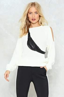 Nasty Gal Hot 'n Cold Shoulder Sweater