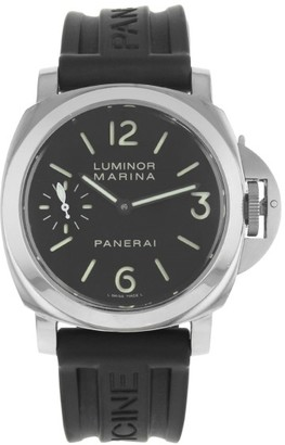 Panerai Luminor Marina PAM00111 Stainless Steel / Rubber with Black Dial 48mm Mens Watch $6,300 thestylecure.com