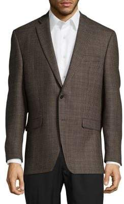 Lauren Ralph Lauren Houndstooth Wool Button-Front Jacket