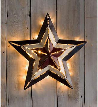 Americana Plow & Hearth Lighted Star Wall Dcor