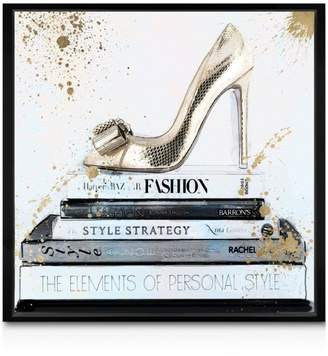 """Oliver Gal Gold Shoe Wall Art, 10"""" x 10"""""""