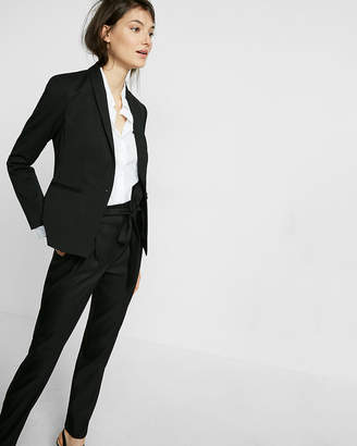 Express Black 24 Inch Shawl Collar One Button Jacket