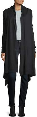 Donna Karan Women's Heathered Open-Front Cardigan