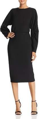 Badgley Mischka Blouson Midi Dress