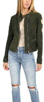 Giorgio Brato Suede Moto Jacket With Patches