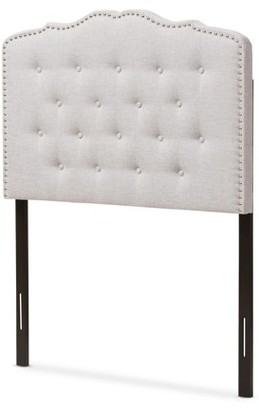 Baxton Studio Lucy Modern and Contemporary Greyish Beige Fabric Full Size Headboard