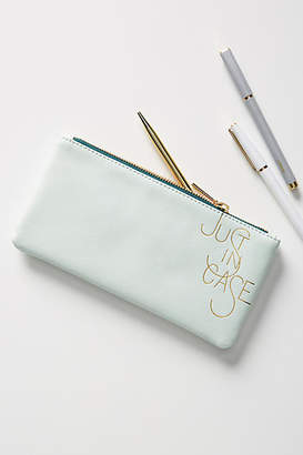 Anthropologie Just In Case Pencil Pouch