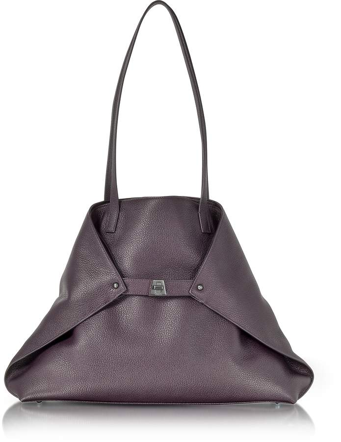 Akris Blackberry Cervocalf Ai Medium Shoulder Bag