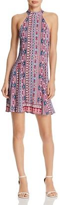 AQUA India Print Halter Dress -100% Exclusive $68 thestylecure.com