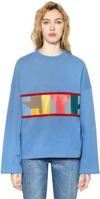 SteveJ & YoniP Logo Cotton Jersey Sweatshirt