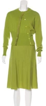 Gucci Three-Piece Cashmere Skirt Set