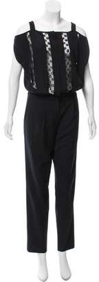 Thakoon Silk Lace-Trimmed Jumpsuit w/ Tags