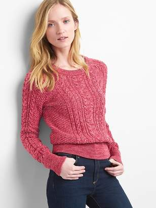 Raglan cable-knit sweater
