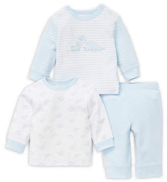 Little Me Baby Boy's Three-Piece Cotton Striped Top, Printed Top and Pants Set