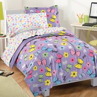 Factory Dream Sweet Butterfly Twin Comforter Set Multi