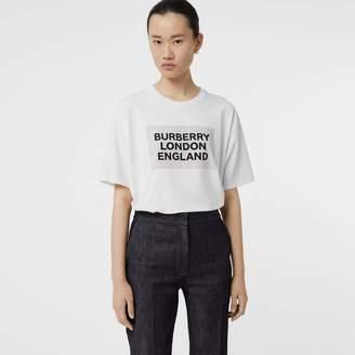 Burberry Logo Print Stretch Cotton T-shirt